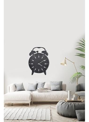 Angemiel Home Çalar Saat Metal Duvar Saati Siyah
